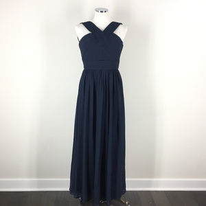 Bill Levkoff XS 2 Navy blue 1276 Pleated dress